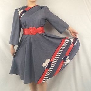 Dresses & Skirts - 70s Cute Striped Dress